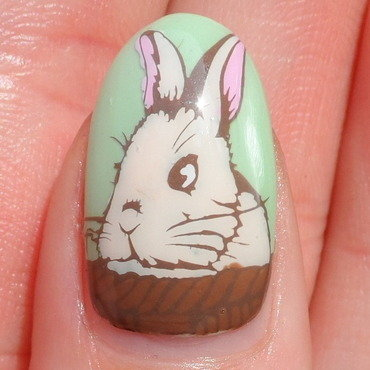 Easter Bunny nail art by Plenty of Colors