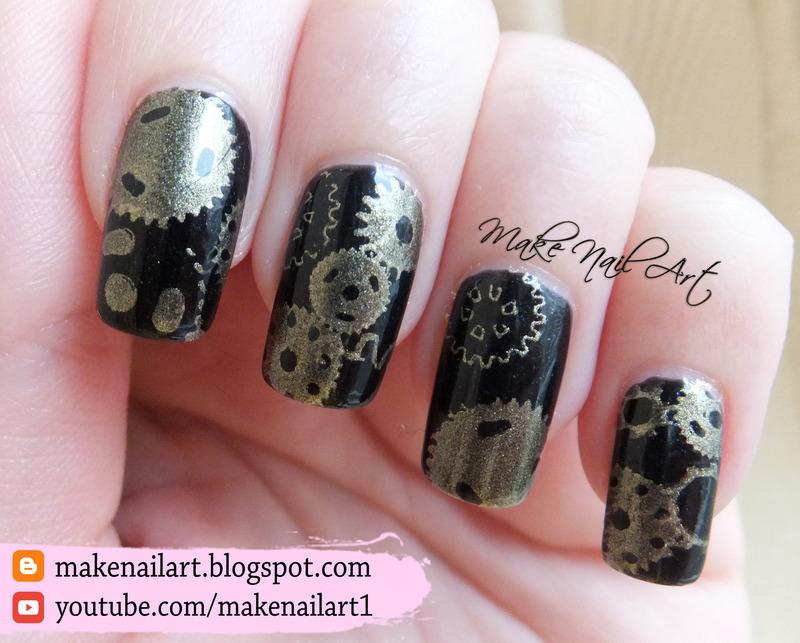 Steampunk nail art design nail art by make nail art nailpolis steampunk nail art design prinsesfo Gallery