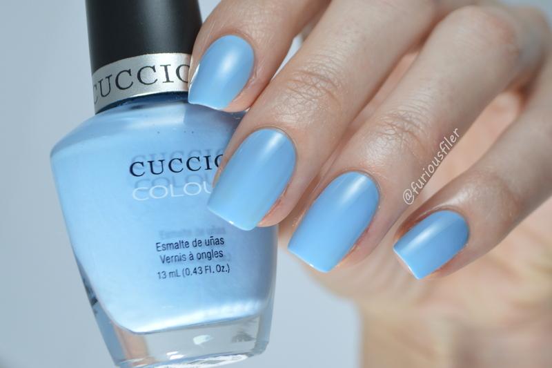Cuccio Under a Blue Moon Swatch by Furious Filer