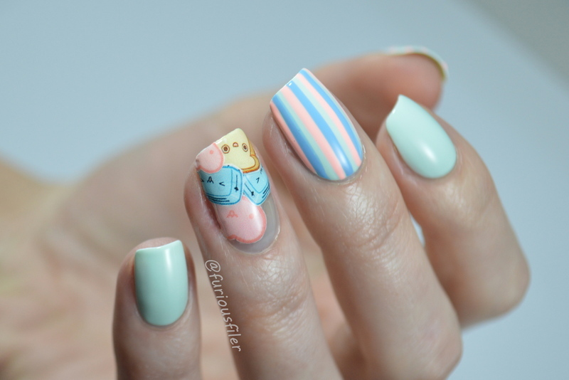 The Sweetest Thing nail art by Furious Filer