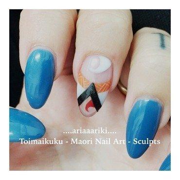 Toimaikuku Sculpt - Papatuanuku (Earth Mother) nail art by Terangi Kutia-Tataurangi