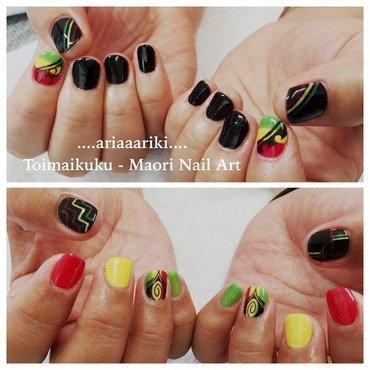 Toimaikuku - Reggae Fever nail art by Terangi Kutia-Tataurangi