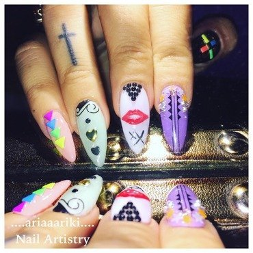 Ariaaariki Nail Artistry - Sorry x nail art by Terangi Kutia-Tataurangi