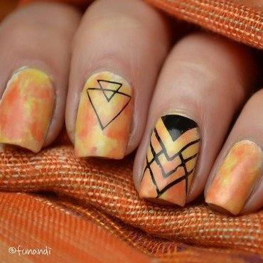 Geometric patterns nail art by Andrea  Manases