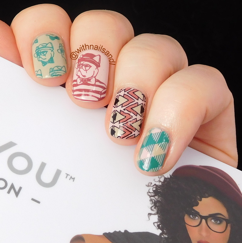 Hipster Dog nail art by WithnailsandI