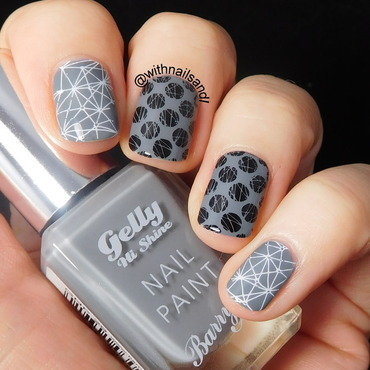 Monochrome Stamping nail art by WithnailsandI