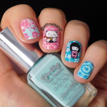 Lucky Cat  nail art by WithnailsandI