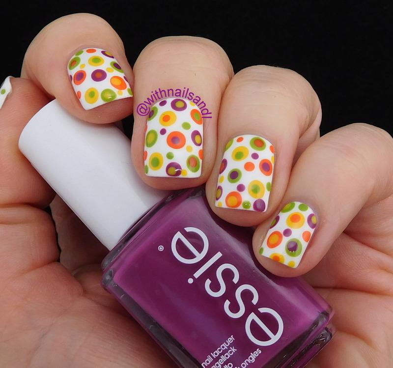 Retro Dots nail art by WithnailsandI
