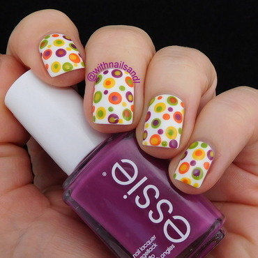 Retro Dots nail art by WithnailsandI