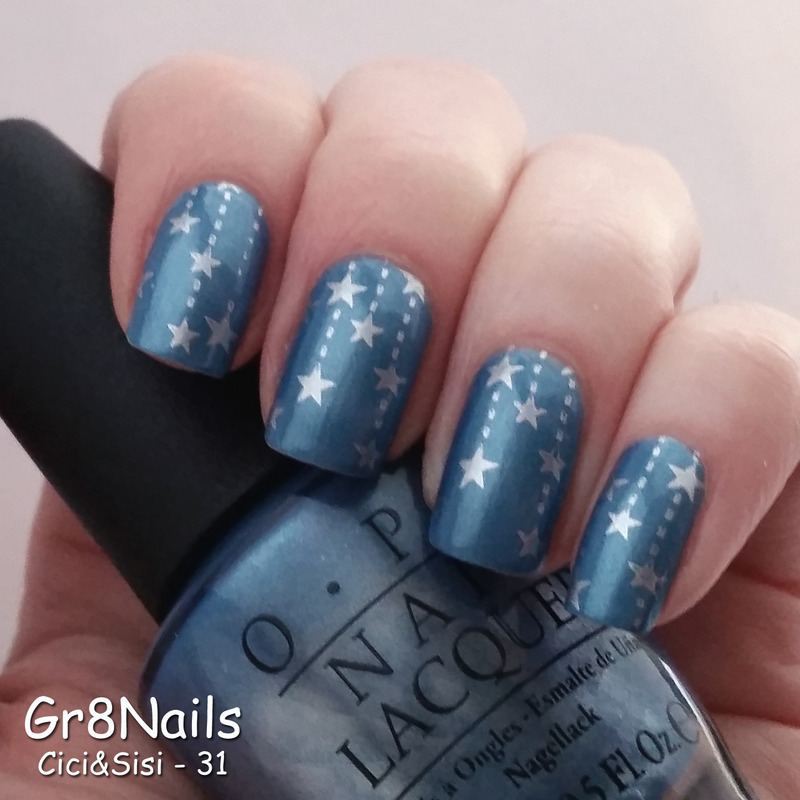 Star Stamping nail art by Gr8Nails