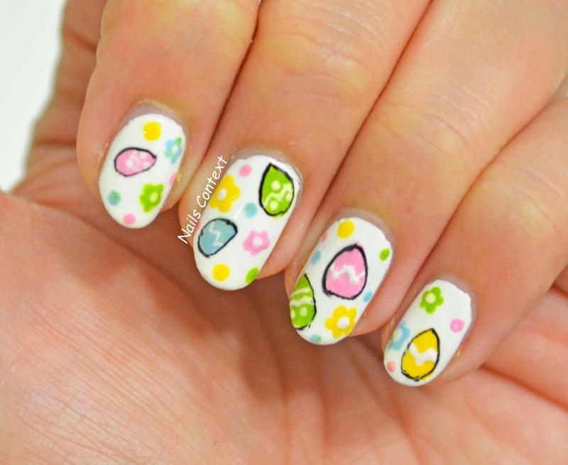 Easter Sunday nail art by NailsContext