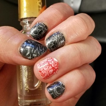 Abstract stamping  nail art by truhero