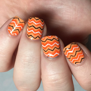 Orange You Glad It's Zigzags? nail art by Michelle
