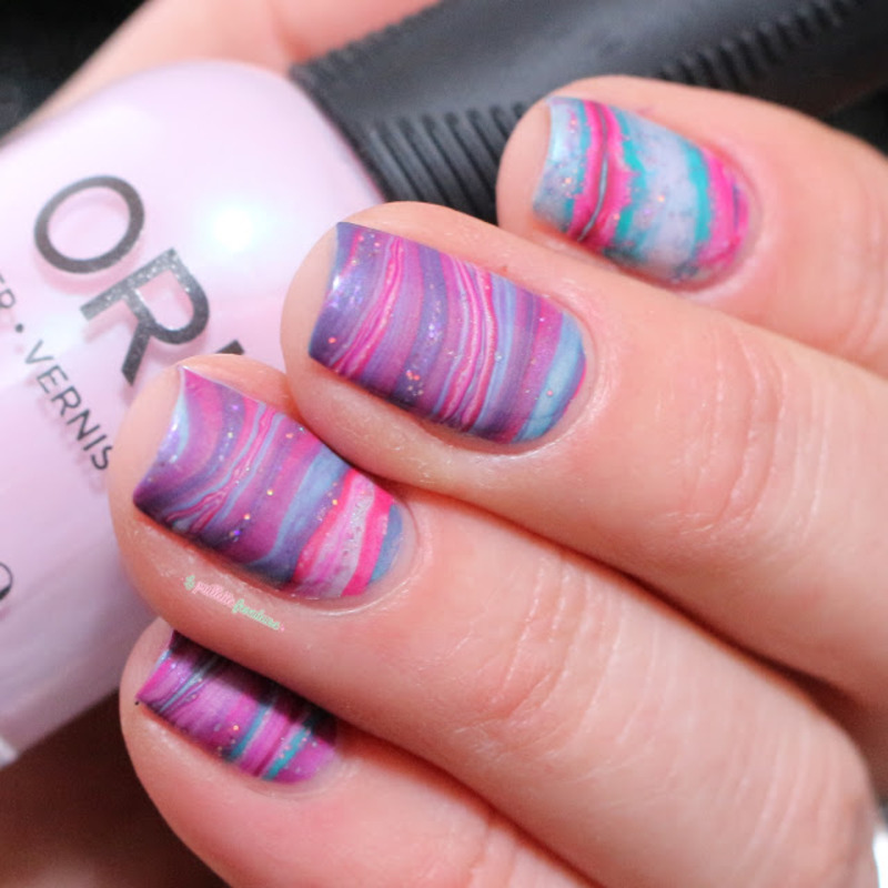 Water Marble Nail Polish Brands India: Spring Marble Nail Art By Nathalie Lapaillettefrondeuse