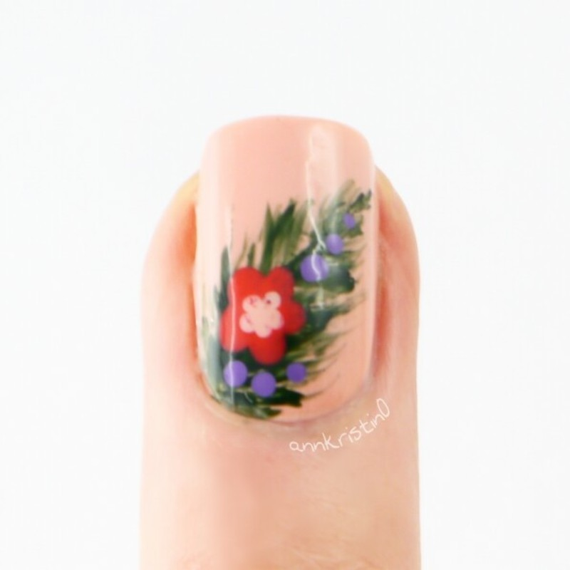 Tropical Essie Spring Accent Nail nail art by Ann-Kristin