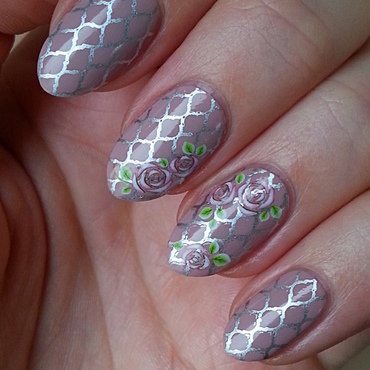 Stamping And Water Decal Combination - Vol.1 nail art by Mgielka M