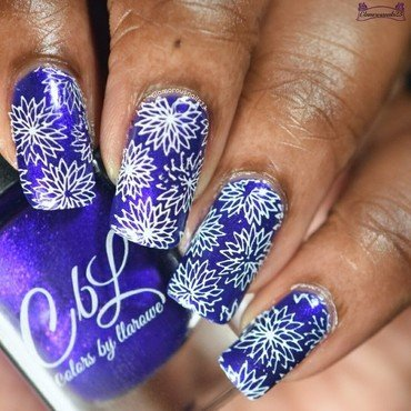 Floral Stamping nail art by glamorousnails23