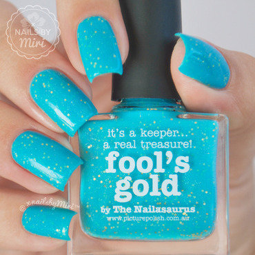 piCture pOlish Fool's Gold Swatch by xNailsByMiri