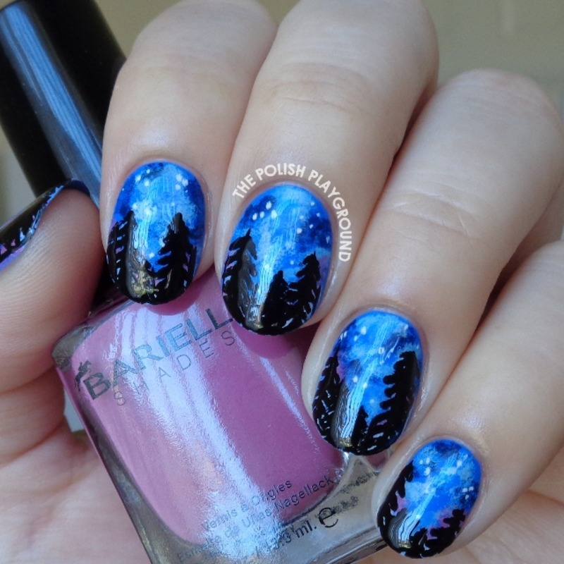 Let's Go See The Stars Inspired Nail Art nail art by Lisa N