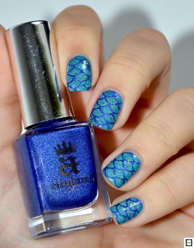 Mermaid nails  nail art by Sweapee
