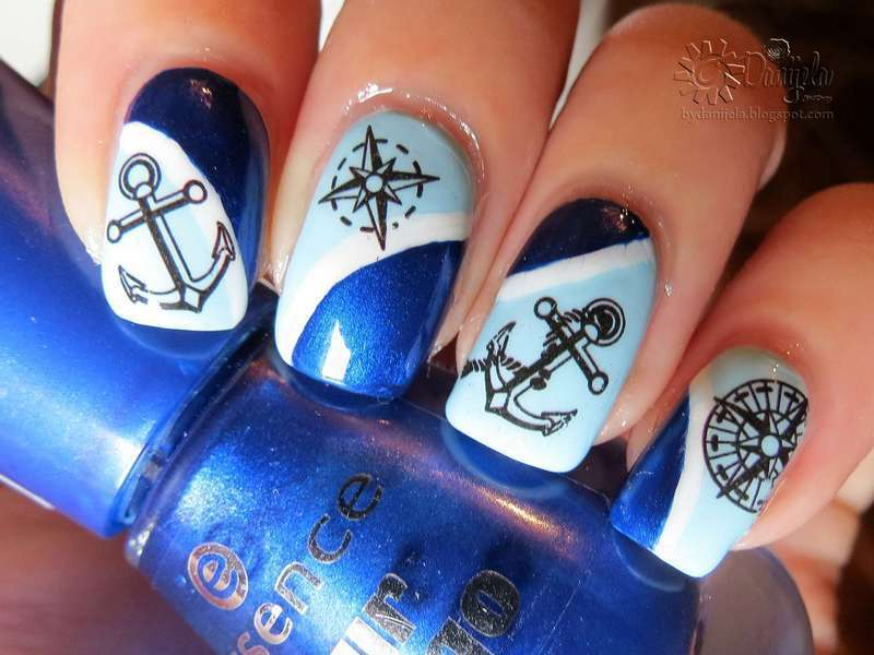 Sailor nail art nail art by bydanijela