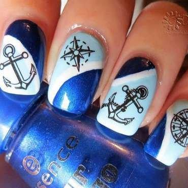 Sailor nail art nail art by bydanijela
