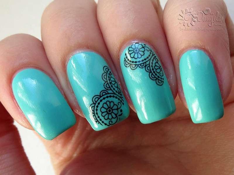 Lace nails nail art by bydanijela