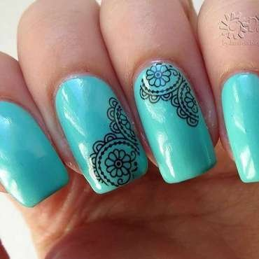Lace nails nail art by bydanijela
