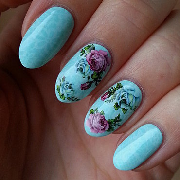 Stamping And Water Decal Combination - Vol.2 nail art by Mgielka M