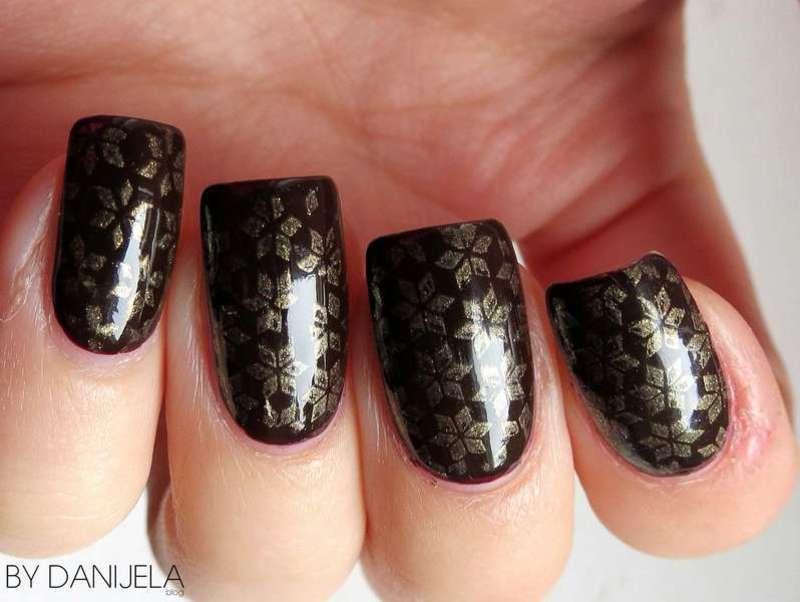 Nail stamping nail art by bydanijela