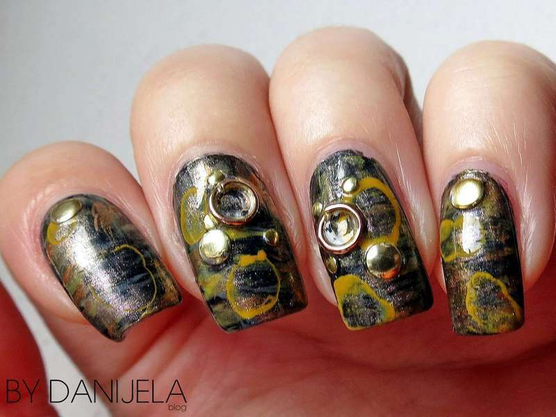 Steampunk nail art nail art by bydanijela