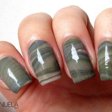 Glamouflage water marble nail art by bydanijela