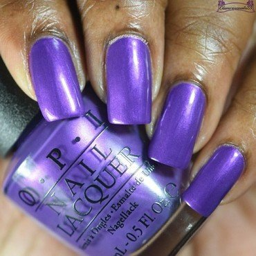 OPI Purple With A Purpose Swatch by glamorousnails23