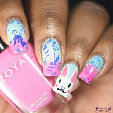 HPB Presents: Spring nail art by glamorousnails23