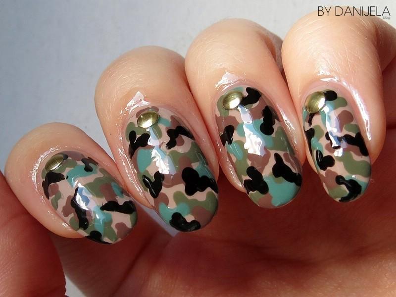 Camouflage nail art nail art by bydanijela