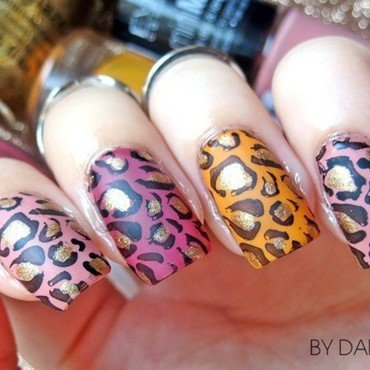 Leopard Print Stella McCartney inspired nail art nail art by bydanijela