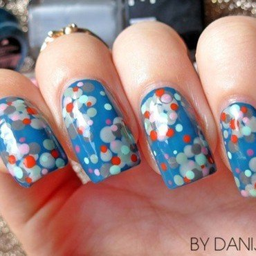Summer dotticure nail art by bydanijela