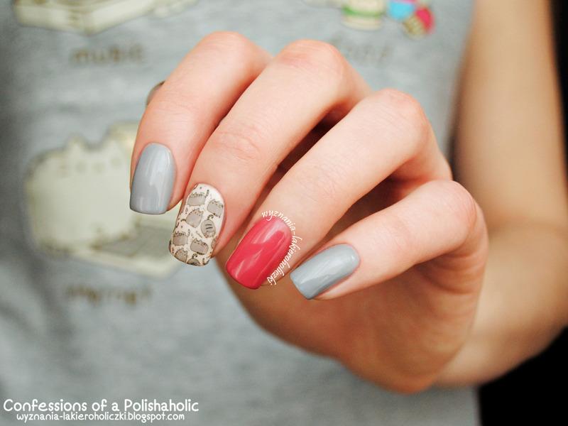 Pusheen nail art by Olaa