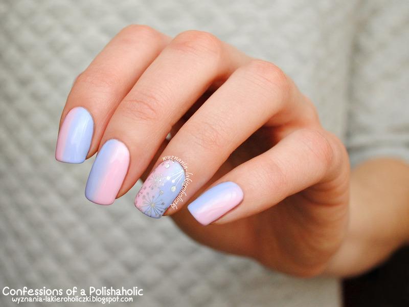 Marshmallow nail art by Olaa