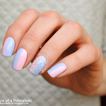 Marshmallow nail art by Olaa
