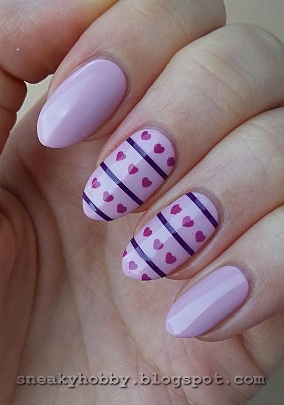 Striping Tape Manicure I nail art by Mgielka M