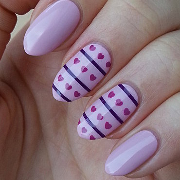 Striping Tape Manicure I nail art by Mgielka M