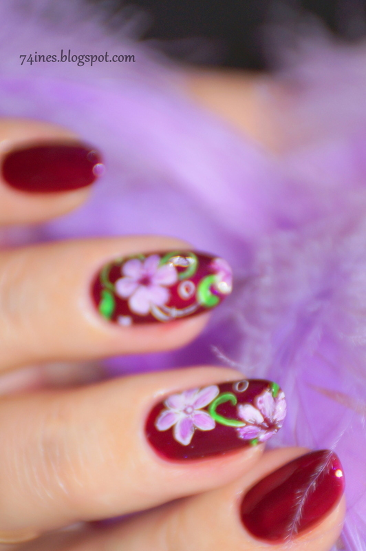 while-your-lips-are-still-red nail art by 74ines