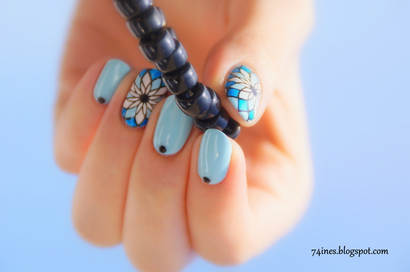 Behind blue eyes nail art by 74ines
