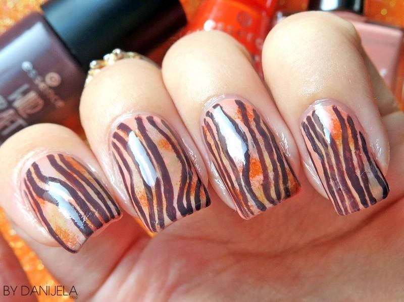 "Freehand ""wood"" manicure nail art by bydanijela"