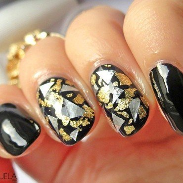 Futuristic foil nails nail art by bydanijela