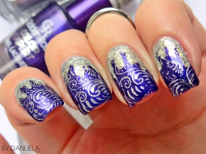 Indigo purple manicure nail art by bydanijela