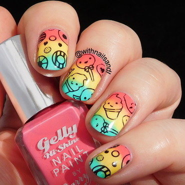 Cute n Bright nail art by WithnailsandI
