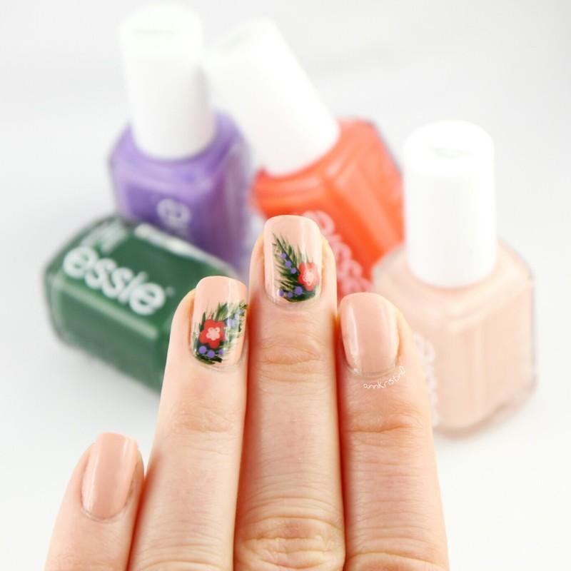 Essie Tropics nail art by Ann-Kristin