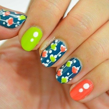 April Florals  nail art by NailsContext